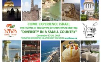 InvitationToServasIsraelInternational Meeting17-26December2017
